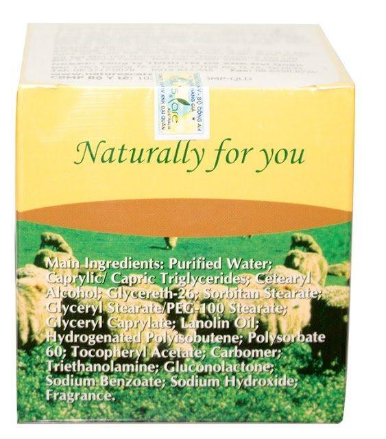 kem dưỡng trắng da với mỡ cừu và vitamin E của Leimei Nature's Care