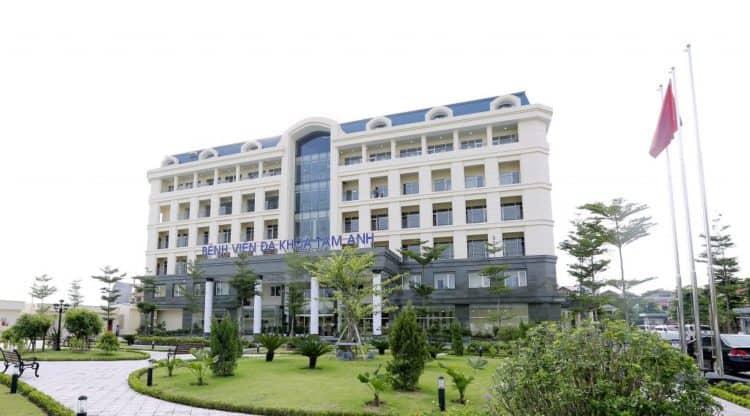 khuôn viên Bệnh viện đa khoa Tâm Anh
