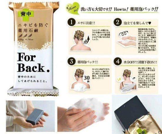 Cách dùng xà phòng trị mụn lưng For Back