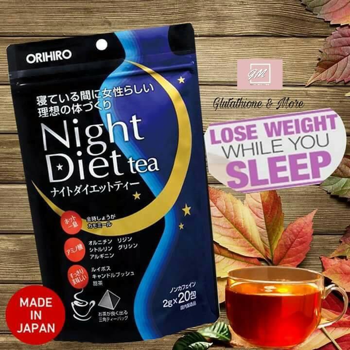 Night diet tea review- trà giảm cân ban đêm Nhật Bản có tốt không?
