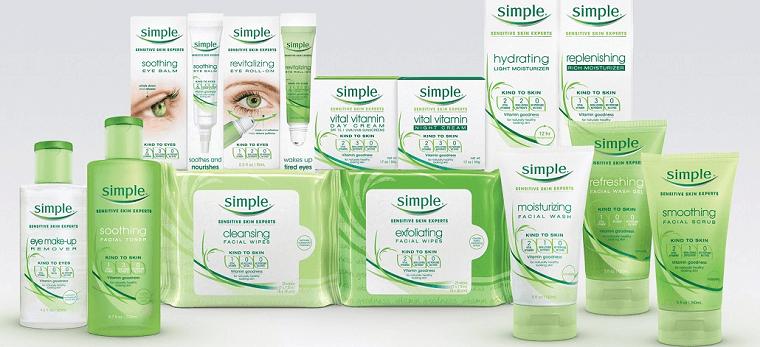 Mỹ phẩm Simple - thương hiệu chăm sóc da số 1 tại Anh