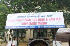 Khoa răng hàm mặt bệnh viện Việt Nam Cuba: các dịch vụ và xứ mệnh