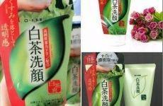 Review sữa rửa mặt trà xanh Matcha Nhật Bản Rohto Shirochasou Green Tea Foam