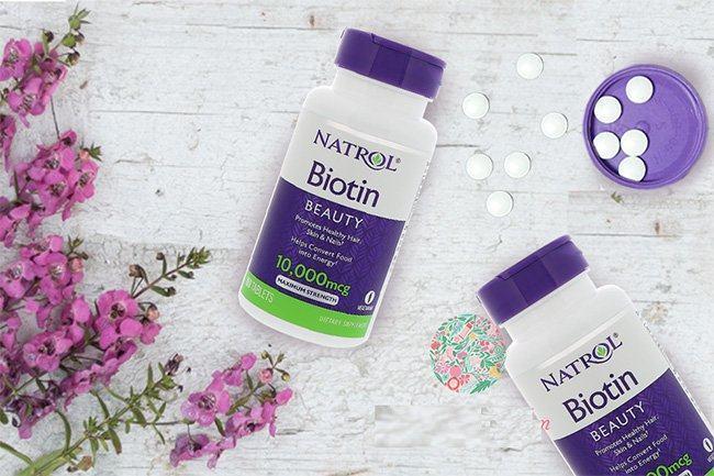Viên uống kích thích mọc tóc Natrol Biotin 10000mcg