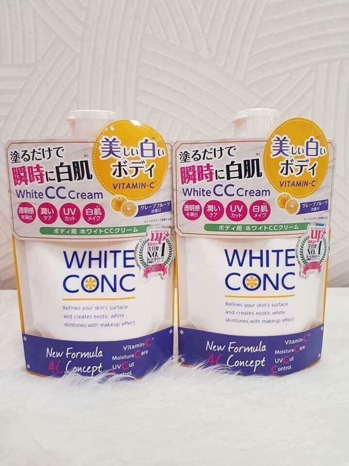 Review sữa dưỡng thể white conc white cc cream 200g