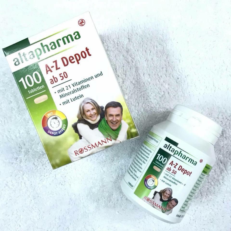 Review vitamin A-Z Depot 100 viên của Đức