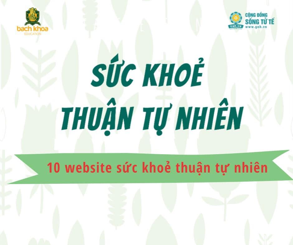 Top 10 website sức khỏe và chữa bệnh thuận tự nhiên